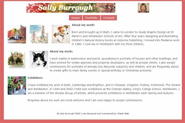 Sally Burrough, local Artist, Wimbledon, London