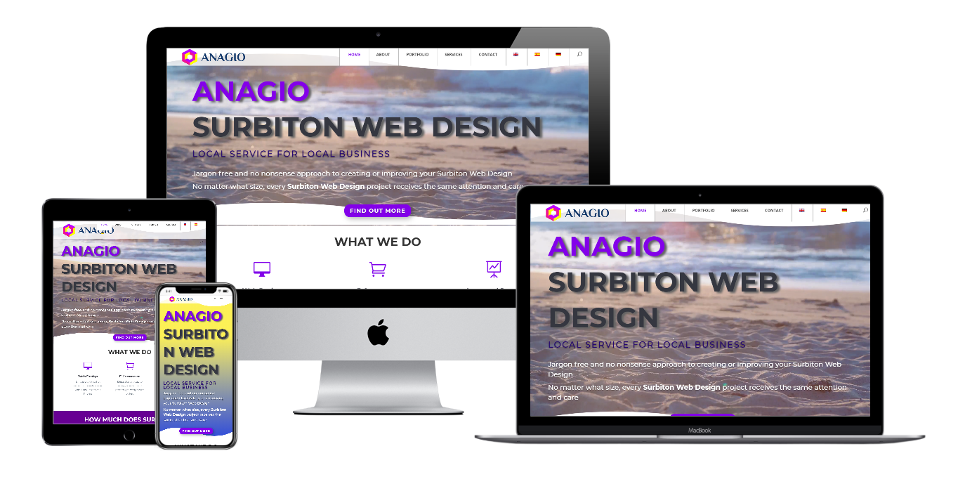 Anagio Surbiton Web Design